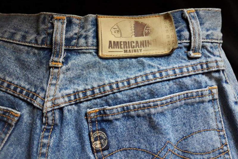 Americanino jeans anni80 vintage - Tu lo senti l'eco dei marchi del passato?