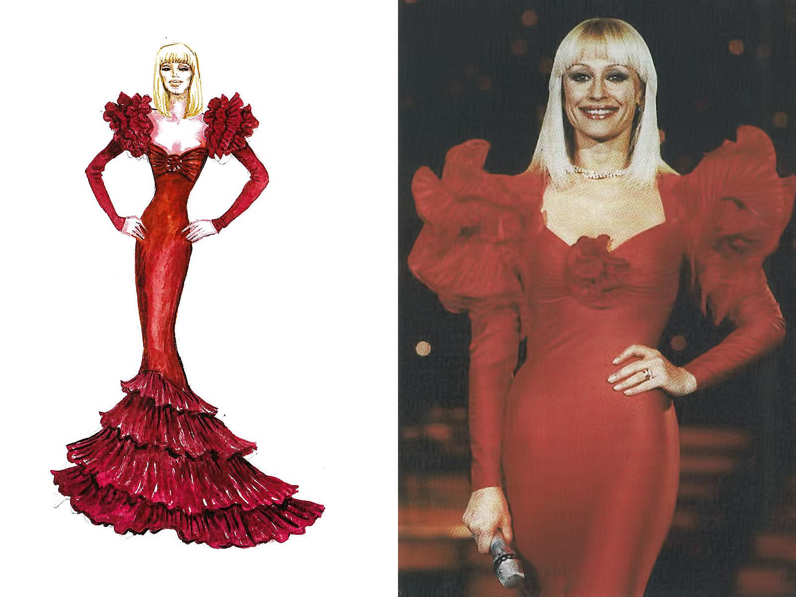 red dress carrà - La lezione di Raffaella Carrà